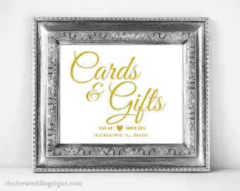 Cards And Gifts Sign For Your DIY Wedding SKU# CWS304_1111C