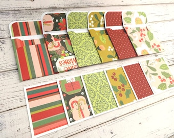 Mini Note Cards, Mini Note Card Set, 3x3 Cards, Christmas Cards, Mini Christmas Cards, Set of 6 Mini Note Cards and Envelopes, Holiday Berry