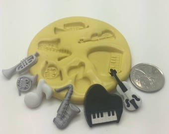 Music Insturments Silicone Mold set