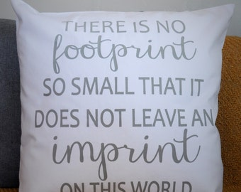 Imprint on this world, miscarriage gift, sorry for your loss gift, no footprint is too small