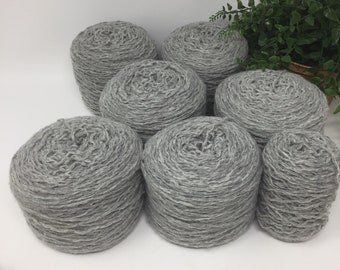 Yarn Recycled Lambswool Angora Blend Worsted 1408 Yards 6.5 Cakes 16.9 oz Lot 729