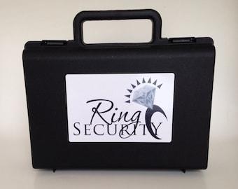 Black & white ring security briefcase -- ring bearer pillow alternative gift