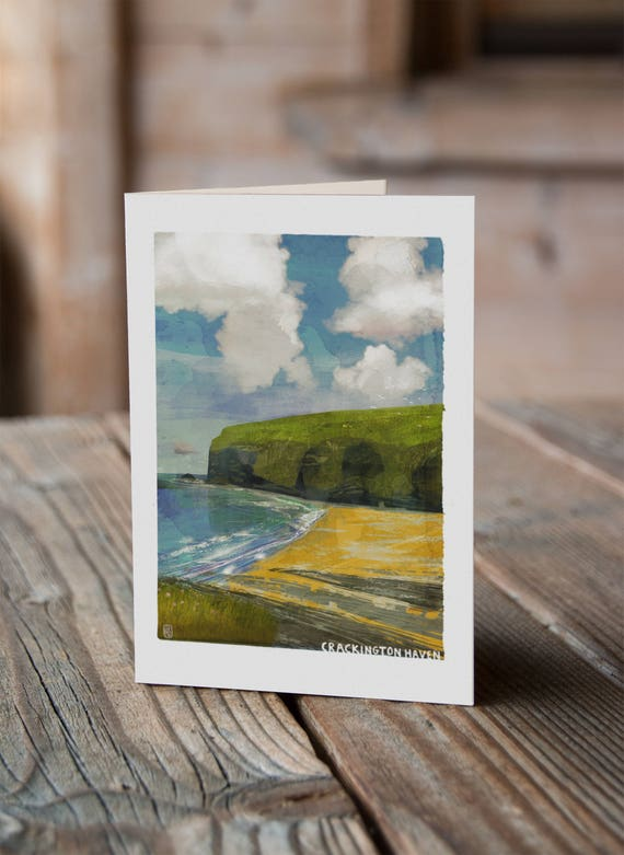 Cornish Coasts - Crackington Haven Greetings Card