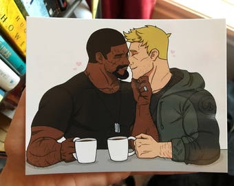 R76 Coffee Postcard