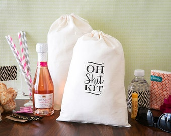 Oh Sh*t Kit Bags - Hangover Kit Bag - Custom Hangover Kit - Bachelorette Party Favor - Bachelorette Oh Shit Kit - Bachelorette Hangover Kits