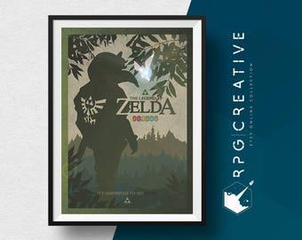 Legend of Zelda : Link - Video Game Collection, Poster Print