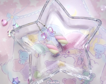 Kawaii pastel marshmallow earrings - Christmas gift for her and teen