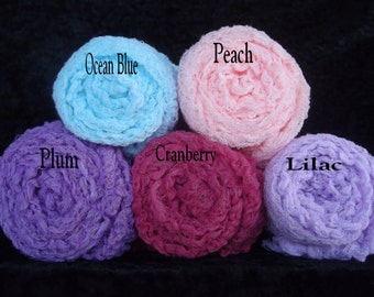 Photography Cheesecloth Wraps.. Set of 5  Newborn Props..Hand dyed Phography wraps