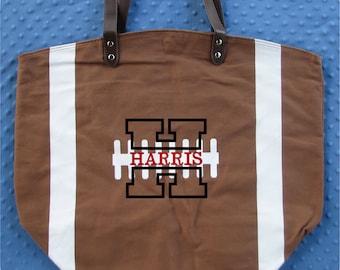 Football Gift, Football Mom, Football Bag, Custom Football Tote Bag, Football Mom Gift, Football Girlfriend, Football Fan, Football Tote