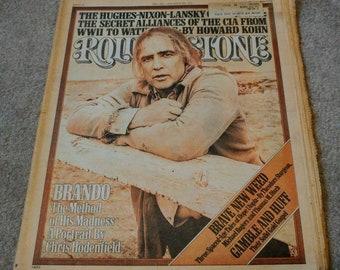 Vintage Original Rolling Stone Magazine ~ Marlon Brando ~ Issue 213 ~ May 20th, 1976