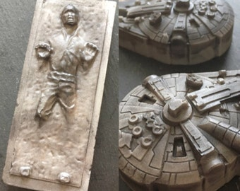Star Wars soap set - The last jedi - gift for him  - Millennium Falcon - Han Solo soap - May the Force be with you - geek nerd