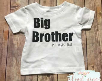Big Brother shirt, Big Brother annoucement, baby annoucement, pregnancy announcement, custom big Brother shirt