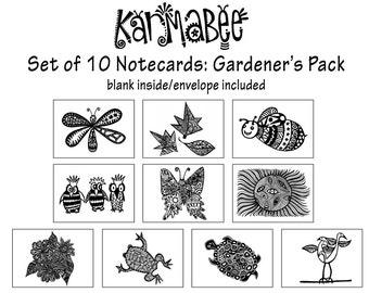 Gardener's Card Set 10 Notecards