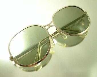 Vintage 1980s estate, France French, retro style silver plastic sunglasses