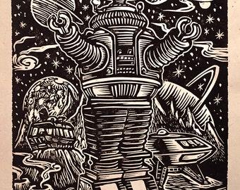 Lost in Space Block Print