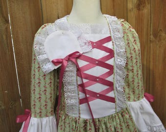 SALE Girls size 10 Colonial Dress  Williamsburg Gown ..PLEASE check measurments and shipping info. inside of ad.
