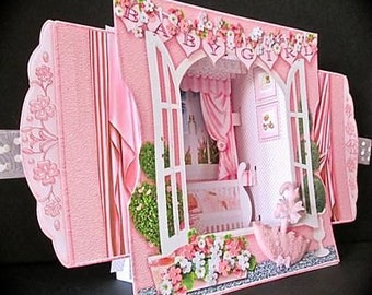 3D New Baby Girl Card