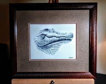 Alligator Pencil drawing by Artist 2PL8N8