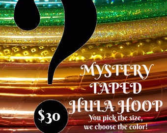 Mystery Taped Hula Hoop: You pick the size, we choose the color/ unique design! Please read description for details