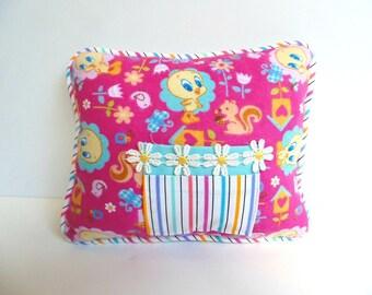 Tweety Bird Tooth Fairy Pillow ,  Looney Tunes Pillow , Girls Tooth Fairy Pillow