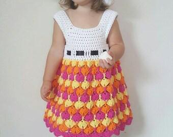 Quiver Fans Dress Crochet Pattern *PDF FILE DOWNLOAD* Instant Download