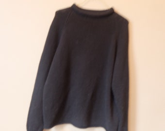 70's  Vintage Roll Neck Maritime Wool Sweater