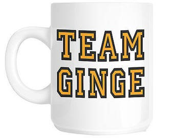 Team ginge ginger hair novelty gift mug