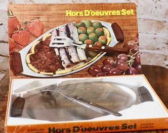 Retro Hors D'oeuvres Serving Set - Unopened