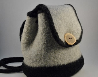 The Min Felted Wool Backpack Purse