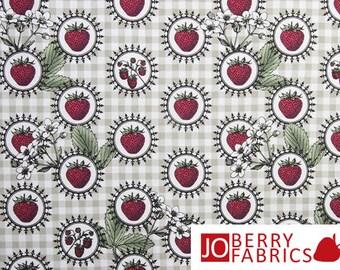 Botanica  Strawberries Fabric