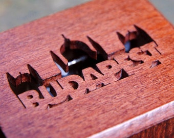 Budapest Hungary Parliament Travel Holiday Wooden Music Box  Brahms Hungarian Dance