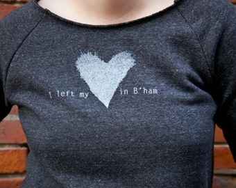 I left my Heart in B'Ham Ivy Heart Women's Fleece Pullover