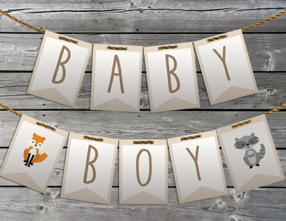 Marvelous Woodland Baby Shower Decorations Woodland Banner Print At