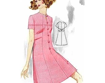 Plus Size (or any size) Vintage 1969 Dress Pattern - PDF - Pattern No 161 Mindy