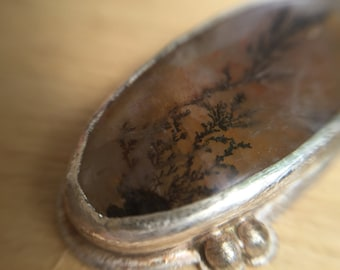 Sterling Silver Pendant with Dendritic Quartz