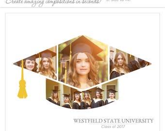 Senior Graduation Invitation Templates Symmetry 4 1