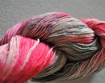 Barnwood.  Handpainted Crochet/Weaving/Macrame Cotton Yarn