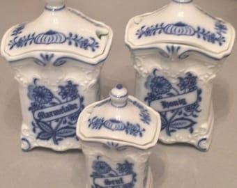 Gerold porcelain, Bavaria, Cobalt blue decor, 1904, vintage, rare, porcelain 1904