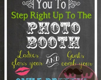 INSTANT DOWNLOAD - Photo Booth Sign - NEON Chalkboard Sign - Weddings, Little Man Birthday
