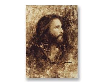 "Jesus Christ Art Print ""Messiah"" by Artist Jared Barnes"