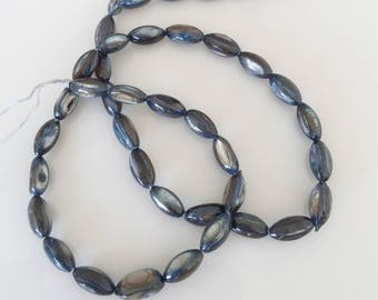 blue oval pearls