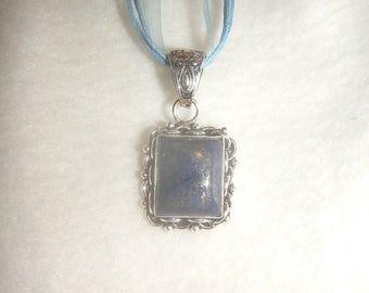 Dark Blue Lapis Lazuli pendant necklace (P593)