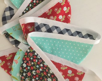 July 4th Banner, scallop banner, scallop bunting, nursery decor, photo prop, fabric banner