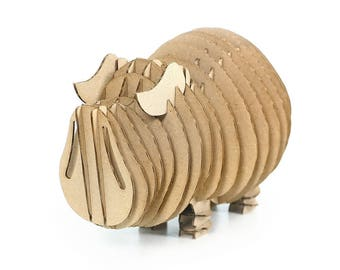 Pig 3D Cardboard Puzzle,3D Puzzle Game,Cardboard Puzzle,Cardboard Toy,Cardboard Game,Eco Accessory,Eco Present