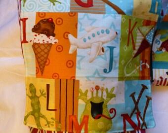 Child's messenger bag featuring Alphabet fabric: preschool or nursery