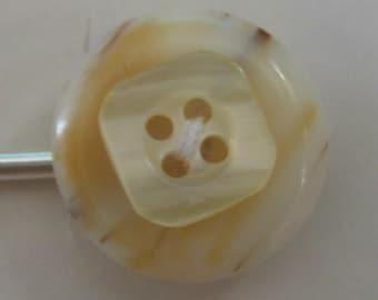 Fun New Lolli-Pin - Vintage Swirled Butterscotch and Ivory Bobby Pin