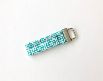 Chapstick Lip Balm Cozy Keychain-Teal Graphic