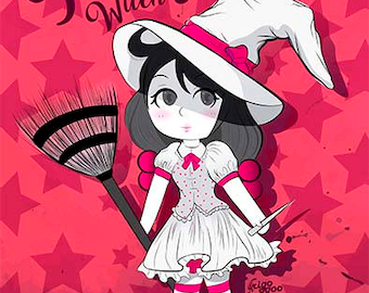 Pinky Witch - printable art