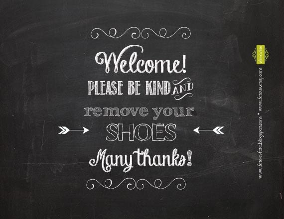 Completely new Please Remove Your Shoes 8x10 PRINTABLE Sign Welcome AE11