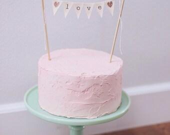 LOVE Wedding Cake Topper Banner